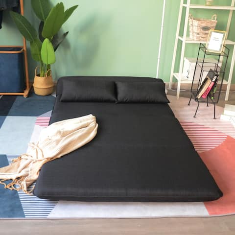 Folding Lazy Sofa Bed with Pillow