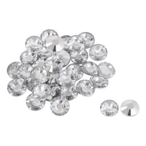 32pcs Furniture Tack Nails 20mm Dia Round Head Diamond Shape Glass DIY Sofa Buttons Headboard Crafts Decorative