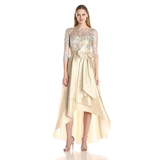 f3df65f82 Shop Adrianna Papell Women s Sequin Illusion High-Low Gown with ...