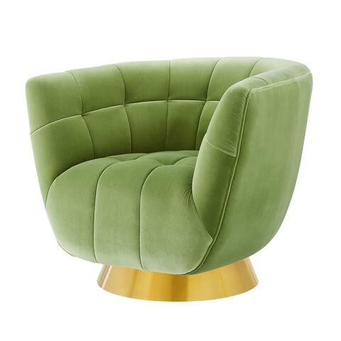 Strick & Bolton Haylee Velvet Swivel Accent Chair