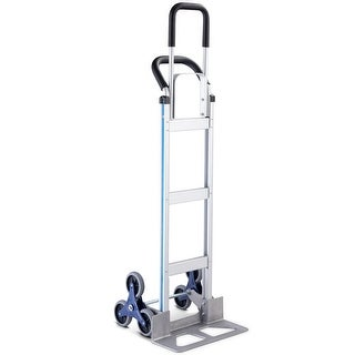 Costway 2 In 1 Folding Hand Truck Stair Climber Hand Truck Aluminum Cart Dolly 550LBS