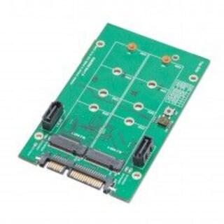 Syba 3.5-inch SATA 7 x15 pin Connector to Dual 7-pin SATA6G Dual M.2 NGFF SSD RAID Adapter ASMedia 1092R Chipset