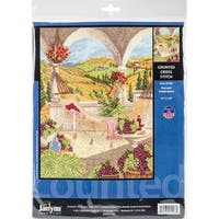 "Harvest Celebration Counted Cross Stitch Kit-11""X14"" 14 Count"