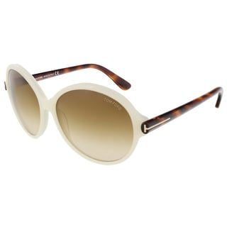 Tom Ford FT0343/S 20F Milena Pearl White Round Sunglasses