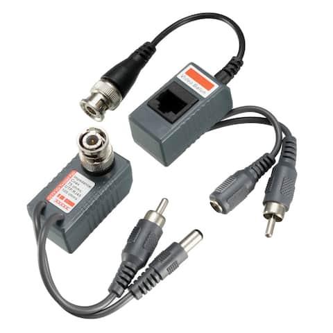 Video Balun Transceiver CCTV Cemara Video Audio Power Passive CCTV-213AVP 1pair - CCTV-213AVP , 1pair