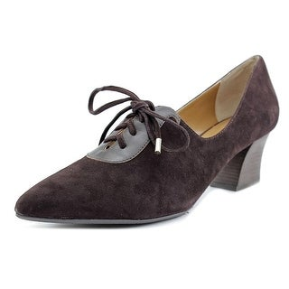 J. Renee Ellam Women Pointed Toe Suede Brown Heels