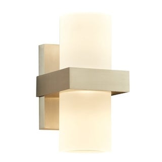 "PLC Lighting 4056 Breeze 2 Light 4-3/4"" Wide Integrated LED Outdoor Wall Sconce - Bronze Aluminum"