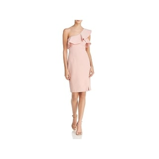 Bardot Womens Cocktail Dress Ruffled One Shoulder