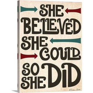 Susan Ball Solid-Faced Canvas Print entitled She Believed