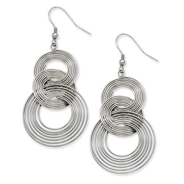 Stainless Steel Multiple Circle Dangle Earrings