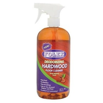 Folex DWF32 Deodorizing Hardwood Floor Cleaner, 32 Oz., Almond Scent