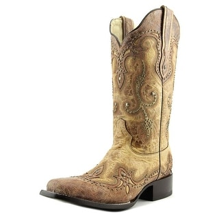 Corral G1212 Women Square Toe Leather Western Boot