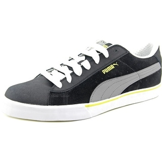 Puma Low City Men  Round Toe Leather Black Sneakers