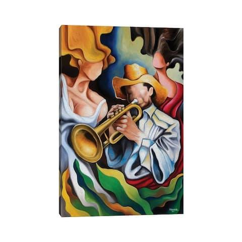 "iCanvas ""The Trumpet's Muses"" by Dixie Miguez Canvas Print"
