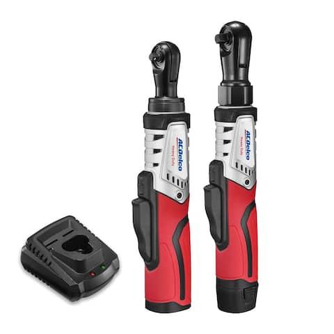 "ACDelco G12 Series 2-Tool Combo Kit- 1/4"" & 3/8"" Brushless Ratchet Wrench, ARW12103-K8"
