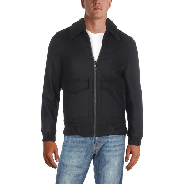 Shop Sean John Mens Bomber Jacket Winter Wool S Free
