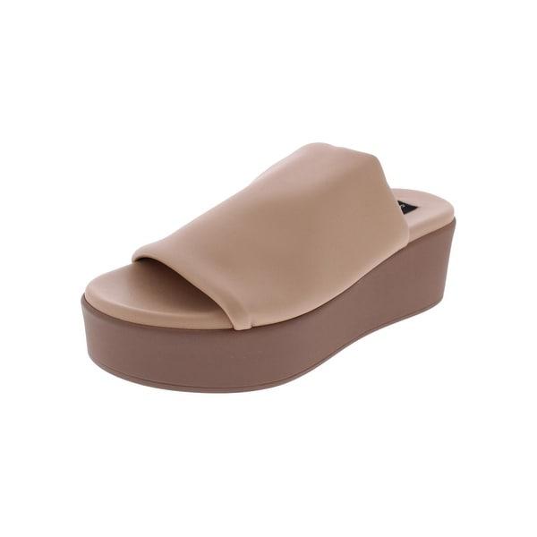 Steven By Steve Madden Womens Ruler Slide Sandals Open Toe Platform