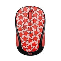 Logitech 910-005029 M325c Small Colorful Wireless Mouse - Cosmos Coral/Red