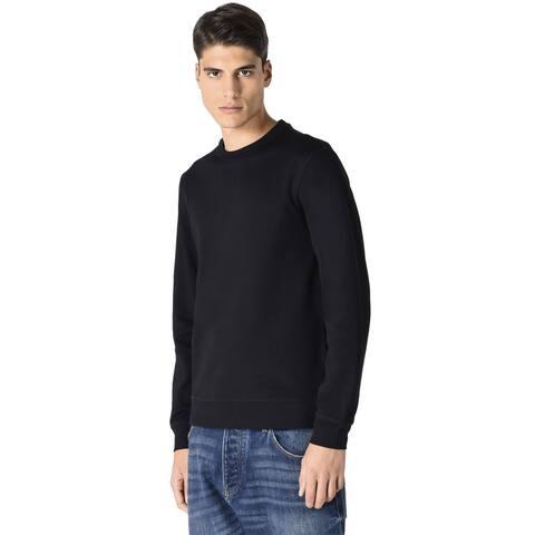 Armani Jeans Mens The Eagle Brand Logo Crewneck Sweatshirt Large Black