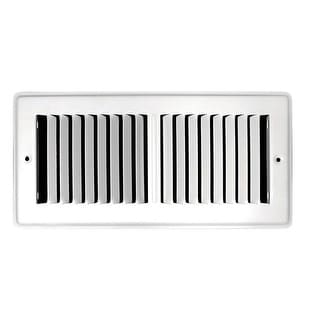 TA Industries C150TSW 02X10 Toe Space Floor Grille, Powder Coated, White