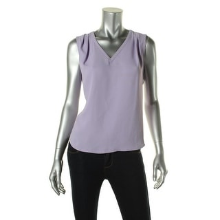 Nine West Womens Solid Sleeveless Blouse