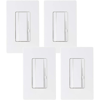 Link to 4 Pack 3-Way Dimmer Switch, Single Pole Also, Wall Plate, UL Listed - White Similar Items in Electrical