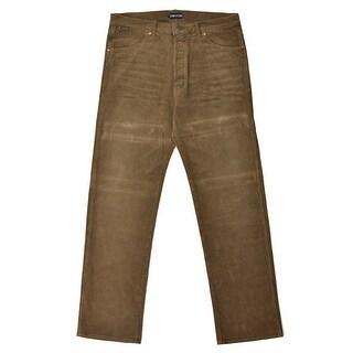 Tom Ford Dark Brown Corduroy Selvedge Loose Fit Jeans - 32