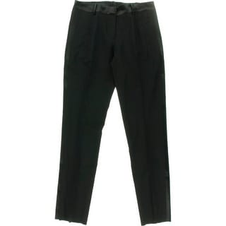 After Six Womens Wool Satin Trim Tuxedo Pant - 8