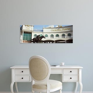 Easy Art Prints Panoramic Images's 'Kentucky Derby Museum, Churchill Downs, Louisville, Kentucky' Premium Canvas Art