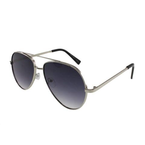 MQ Jaxon - Textured Metal Frame Aviator Sunglasses