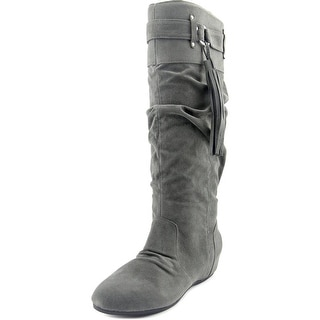 Madden Girl Destiny Women Round Toe Synthetic Knee High Boot