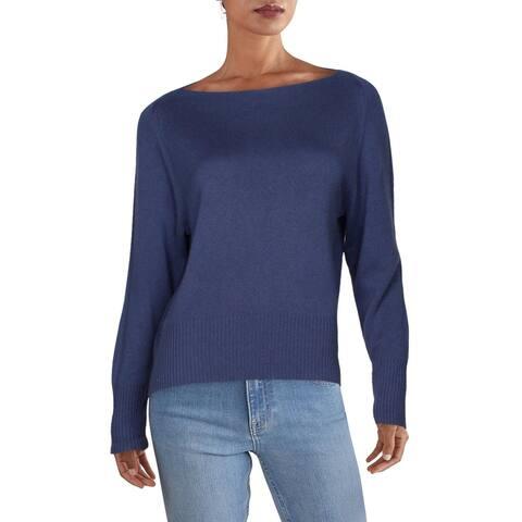 Vince Womens Sweater Wool Blend Bateau - Blue