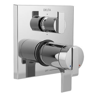 Delta T27T967 Ara TempAssure 17T Series Dual Function Thermostatic Valve Trim with Integrated Volume Control and 6 Function