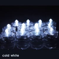 12x LED Submersible Waterproof Wedding Decoration Battery Light Candles White