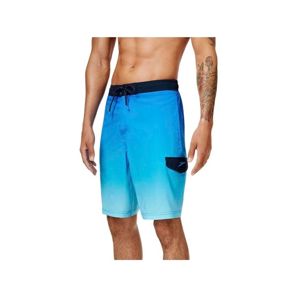 4fe15b3ffa Shop Speedo Mens Ombre Drawstring Swim Trunks - Free Shipping On Orders Over  $45 - Overstock - 22408976