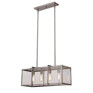 Trans Globe Lighting 10214 Boxed 4 Light Adjustable Linear Chandelier