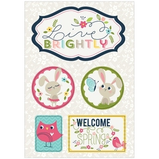 Welcome Spring Dimensional Stickers-Live Brightly