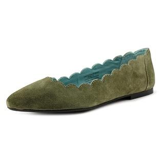 29 Porter Rd Mishka Scalloped Edge Ballet Slipper Women Green Ballet Flats