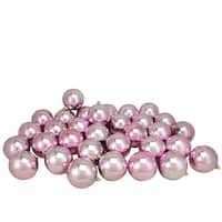 "32ct Bubblegum Pink Shatterproof Shiny Christmas Ball Ornaments 3.25"" (80mm)"