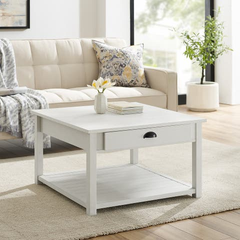 The Gray Barn 30-inch Two Drawer Coffee Table