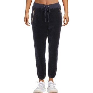 Juicy Couture Black Label Womens Silverlake Track Pants Velour Jogger