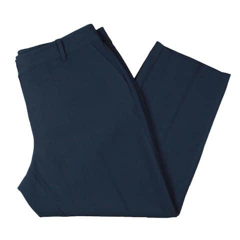 Vince Camuto Womens Plus Straight Leg Pants Crepe Lightweight - Dusty Blue