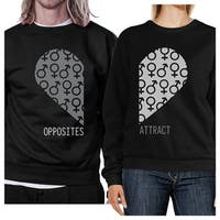 Opposites Attract Symbols Funny Matching Sweatshirts For Couples