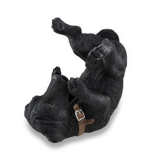 Black Lab Wine Holder Bottle Display Sculpture