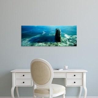 Easy Art Prints Panoramic Images's 'View of a rock formation in the sea, Santa Cruz, California' Premium Canvas Art