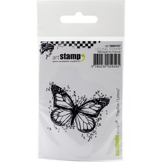 """Carabelle Studio Cling Stamp 2.75""""X3.75""""-Butterfly Letters"""