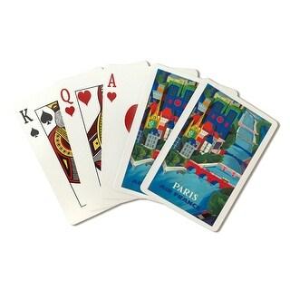 Air France - Paris (Vernier) Vintage Poster (Poker Playing Cards Deck)