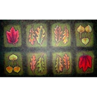 Custom Printed Rugs DM 15 Fallen Leaves Door Mat