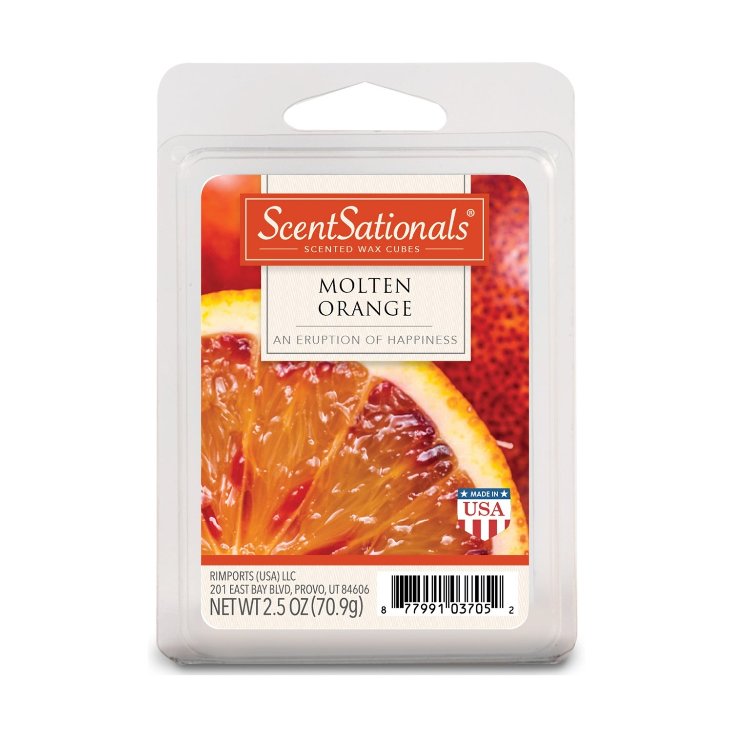Scentsationals Molten Orange 2 5 Oz Fragrant Wax Melts 6 Scented Wax Cubes 4 Pack Overstock 31141460