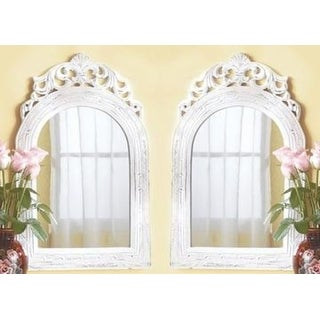 Set of 2 Arched-top Wall Vintage Mirrors